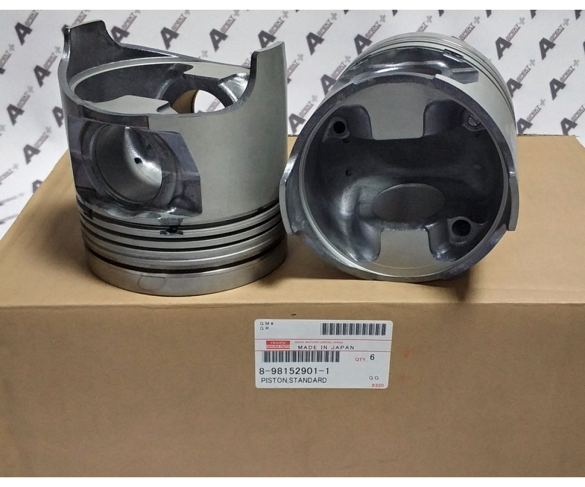 PISTON; STD Isuzu 4HK1 6HK1 8981529011 8981529010 8980235261