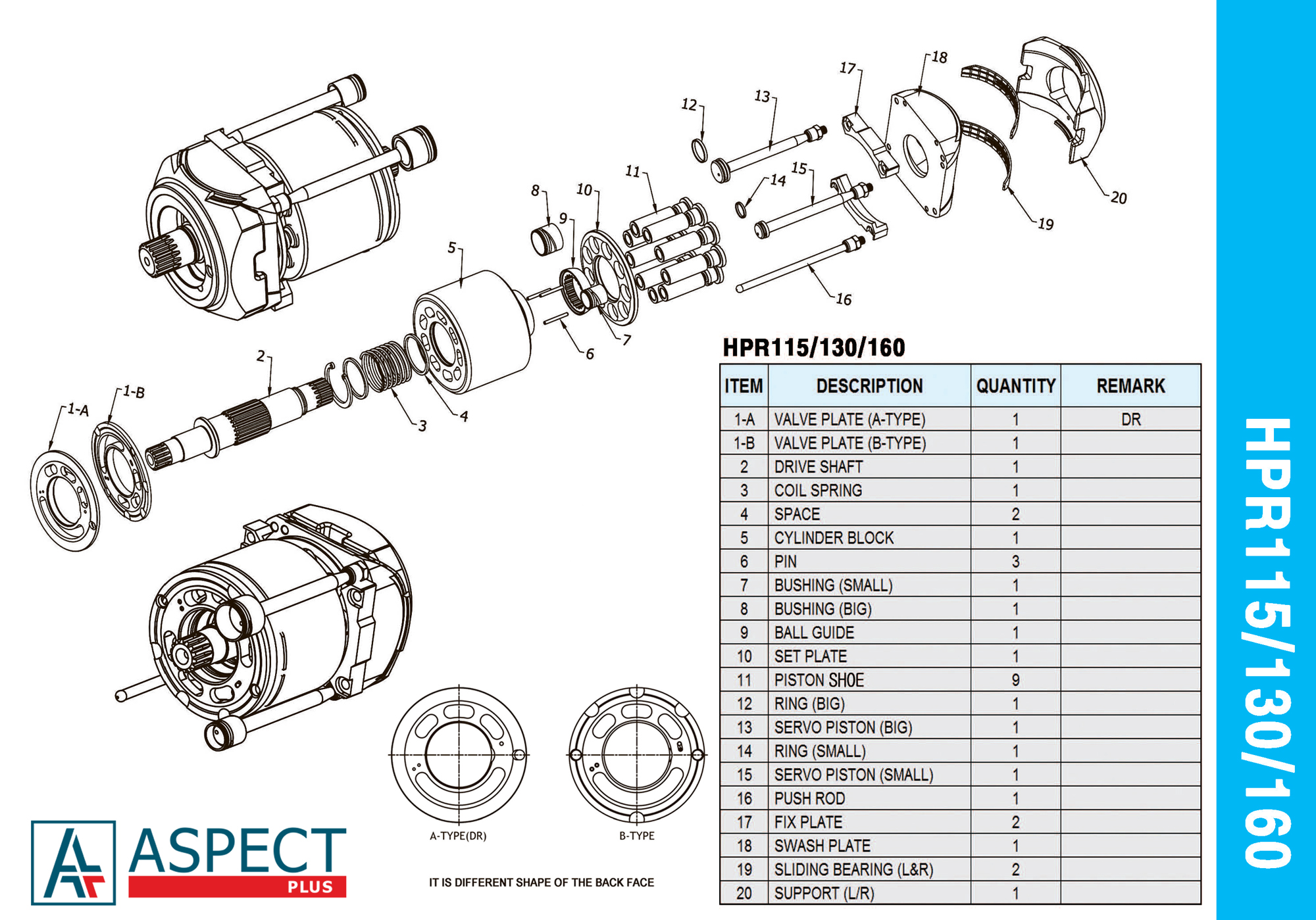 LINDE HPR115 HPR130 HPR160 assembly diagram